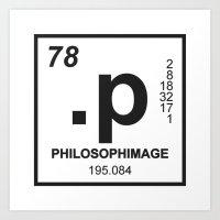 philosophimage logo t Art Print
