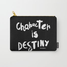 Character Is Destiny - Heraclitus Carry-All Pouch