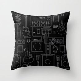 Schematic Diagram Throw Pillow