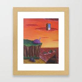 alternative sunset Framed Art Print