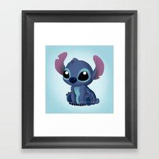 Chibi Stitch Framed Art Print