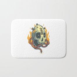 Skull Fire Bath Mat