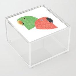 Eclectus Parrots Acrylic Box