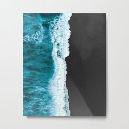 Aerial Photography of Sea Wave Metal Print