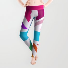 Square Based Union Jack/Flag Design Multicoloured Leggings