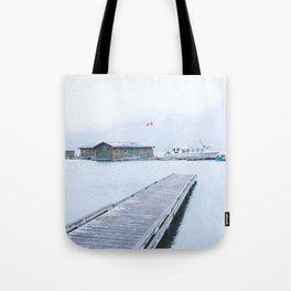345. Minnewanka Boat House, Banff, Canada Tote Bag