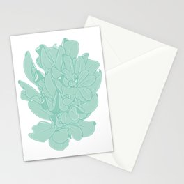 Coiled Leaves Vector Illustration Stationery Cards