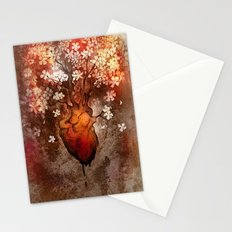 This Bleeding Blossoming Heart Stationery Cards