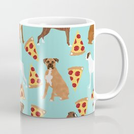 boxer pizza dog lover pet gifts cute boxers pure breeds Coffee Mug