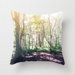 Dappled Forest Throw Pillow