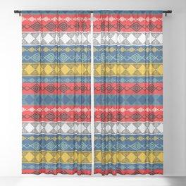 Colorful Tribal Sheer Curtain