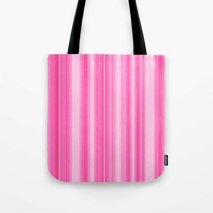 Pink Candy Stripe Tote Bag