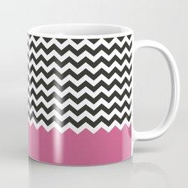 Chevron Bicolor and Magenta Coffee Mug