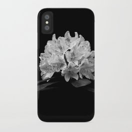 Rhododendron In Black And White iPhone Case