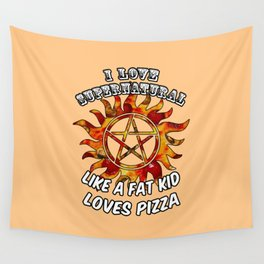 I Love Supernatural Wall Tapestry