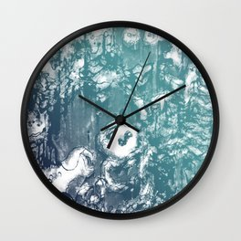 Inky Shadows - Blue edition Wall Clock