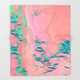 I See Beauty - Malachite Marble Throw Blanket