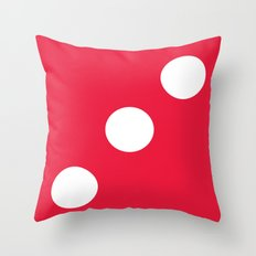 Red Dice 3 Throw Pillow