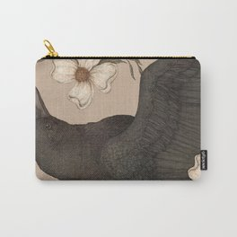 The Crow and Dogwoods Carry-All Pouch