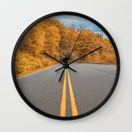 Shenandoah Skyline Drive - Autumn Gold Wall Clock
