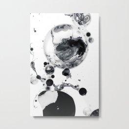 Ink in Milk Black and White liquid Nr.05 Metal Print