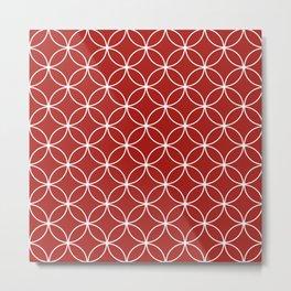 Circles Crossing - Apple Metal Print