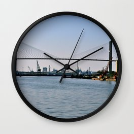over the savannah river Wall Clock