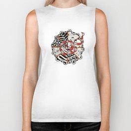 Its Your Birthday- Zentangle Illustration Biker Tank