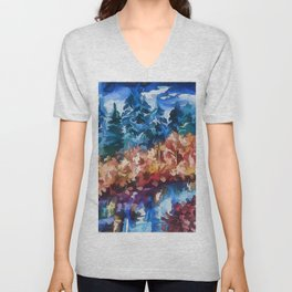Fall in Rockies Unisex V-Neck