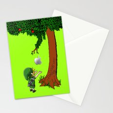 Link Zelda with an apple tree iPhone 4 4s 5 5c, ipod, ipad, pillow case tshirt and mugs Stationery Cards