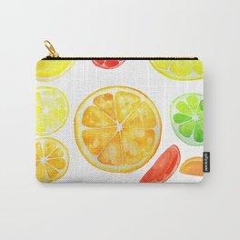 colorful citrus fruit watercolor Carry-All Pouch