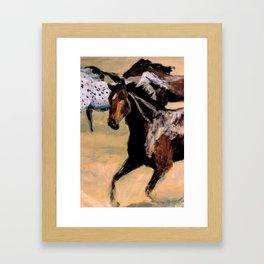 Galloping Horse Close-Up Framed Art Print