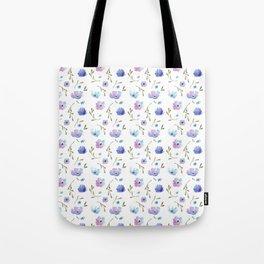 Blue watercolor flowers Tote Bag