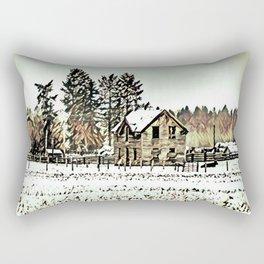 A Hazy Shade Of Winter  - Graphic 2 Rectangular Pillow