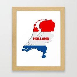 Holland map Framed Art Print