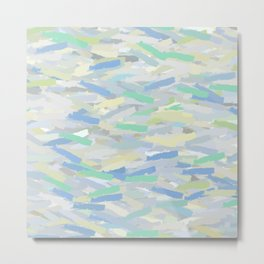 Blue, Teal, Green Abstract Metal Print