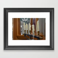 Melted Candles Framed Art Print