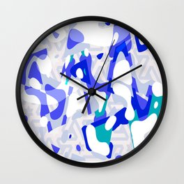 Paint Bloops, Ultra Violet Wall Clock
