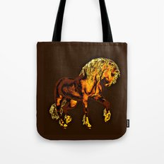HORSES-Golden Palomino Tote Bag