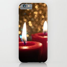 Advent theme 4 red candles Christmas iPhone Case
