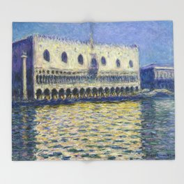 The Palazzo Ducale by Claude Monet Throw Blanket