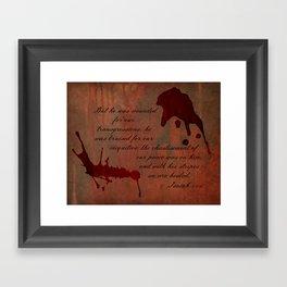 Calvary's Blood Framed Art Print