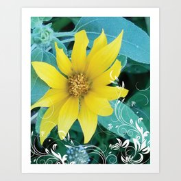 Shine like a Sunflower Art Print