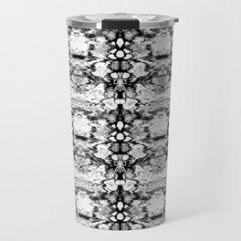 Modern Bohemian Black and White Pattern Travel Mug