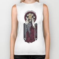 hallion Biker Tanks featuring It's not long at all.... by Karen Hallion Illustrations
