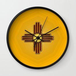 Fancy Flag:  New Mexico Wall Clock
