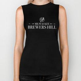 Brewers Hill Wordmark White Biker Tank