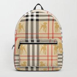 WEIMARANERS AND BEIGE PLAID2 Backpack
