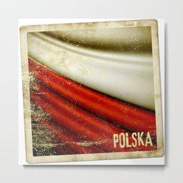 STICKER OF POLAND flag Metal Print