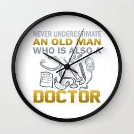 Old Man - A Doctor Wall Clock